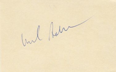 Tennis - 1976 French Open Finalist HAROLD SOLOMON Autographed Card 1970s