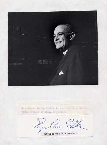 World Council of Churches Sec General EUGENE CARSON BLAKE Autograph Display