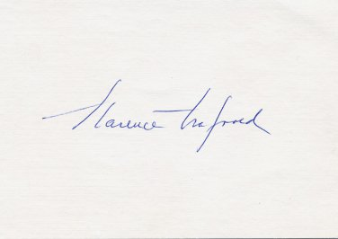 Swedish Pioneer Surgeon CLARENCE CRAFOORD Autographed Card 1970s