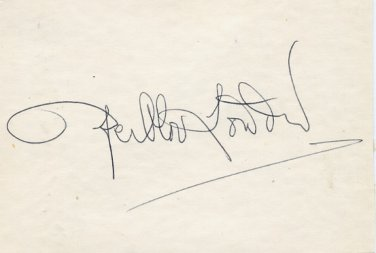 Swedish Physicist PER-OLOV L�WDIN Autographed Card 1970s