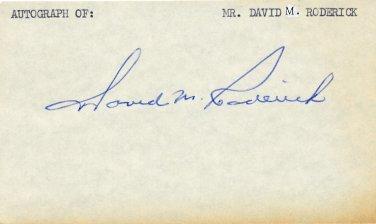 1979-89 U.S.Steel Chairman DAVID M RODERICK Autographed Card 1970s