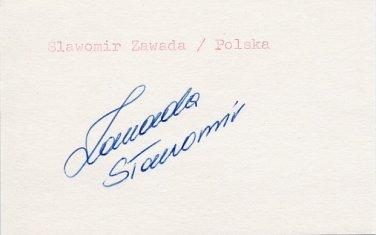 1988 Seoul Weightlifting Bronze SLAWOMIR ZAWADA Autograph 1988 #2