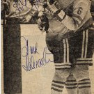 Swedish Ice Hockey Stars DAN LABRAATEN & STEFAN KARLSSON Autographs 1970s