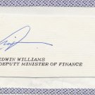 Liberia - 1975-76 Minister of Finance EDWIN WILLIAMS Autograph Cut 1975