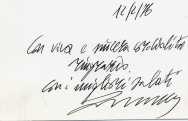 Italy - Historian Author Founder of Transport Museum FRANCESCO OGLIARI Autographed Card 1976