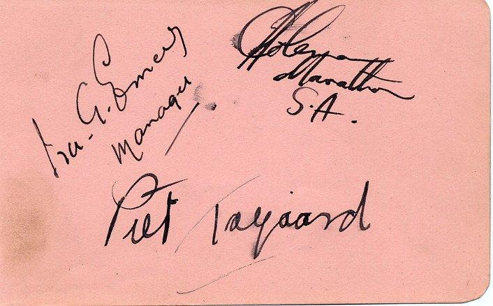 1936/48 Olympian & '38 British Empire Games Marathon Champion JOHANNES COLEMAN Autograph 1948 (+2)