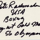 1956 Melbourne Boxing Gold PETE RADEMACHER Autograph 1980s
