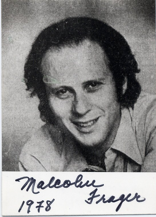 American Piano Virtuoso MALCOLM FRAGER Hand Signed Photo from 1978