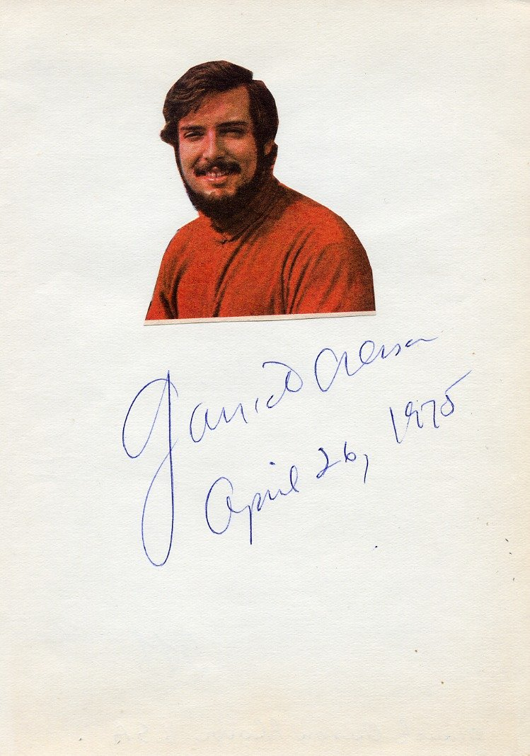 American Classical Pianist GARRICK OHLSSON Autograph from 1975