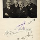 Famous Russian Vocal Ensemble Kedroff Quartet  Autographs from 1936