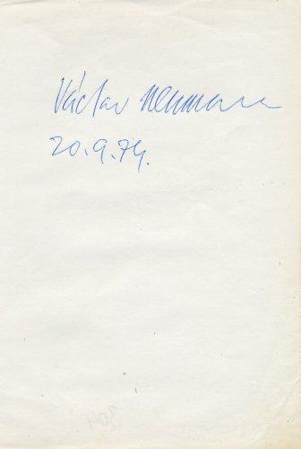 Czech Conductor & Violinist VACLAV NEUMANN  Autograph from 1974