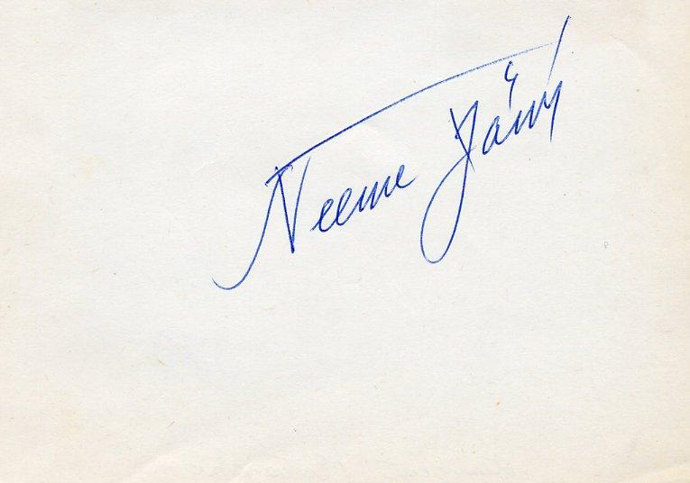 Estonian Conductor NEEME JARVI Autograph from 1975 #2