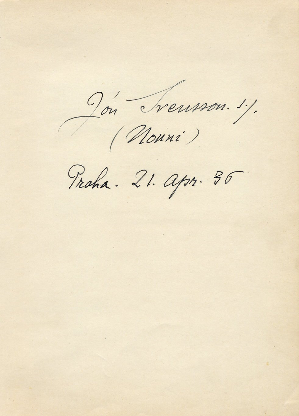 Iceland - Renowned NONNI Writer JON SVENSSON Autograph from 1936 SCARCE!