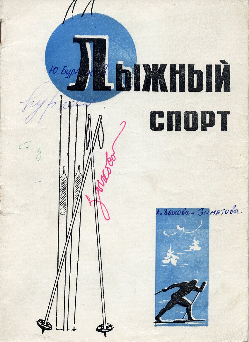 1984-88 Cross Country Skiing & 1982 World Champion YURY BURLAKOV  Autographed Program Page 1980