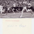 (R) 1936 Athletics 4x400m Bronze FRIEDRICH von STULPNAGEL  Autograph 1980s
