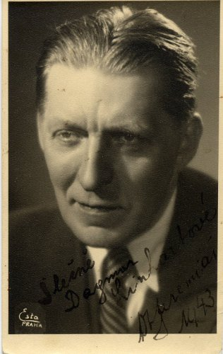 Czech Composer & Conductor OTAKAR JEREMIAS Hand Signed Photo 1943