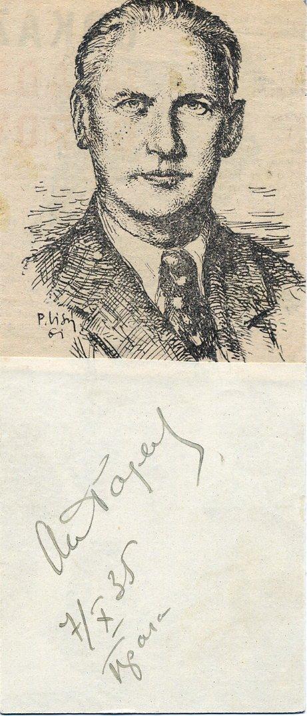 Stalin's Favorite The Young Guard Author ALEXANDER FADEYEV Autograph 1935 RARE!