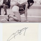 (R) 1968 Athletics 400m Gold COLETTE BESSON  Autograph 1980s