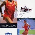 (T) 1992 Athletics 1500m Gold FERMIN CACHO Hand Signed Photo 4x6