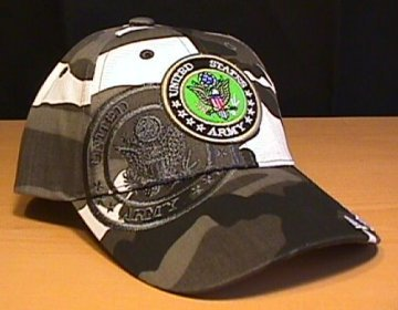 ARMY URBAN CAMOUFLAGE W/SHADOW  LOGO HAT