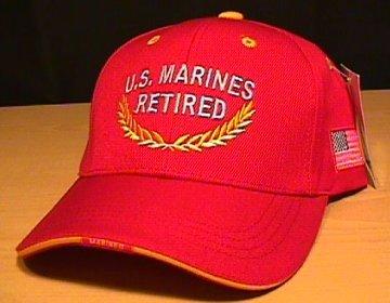 MARINE RETIRED CAP #2 RED