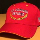 MARINE RETIRED CAP #2 RED