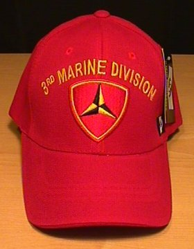 MARINE 3RD DIVISION CAP - RED