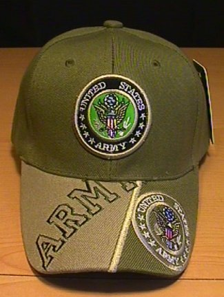 ARMY DOUBLE LOGO CAP W/ 2-TONE BILL #2