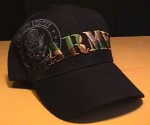 ARMY CAMOFLAGE TEXT SHADOW CAP - BLACK