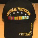 VIETNAM VETERAN CAP W/RIBBON AND 5 STARS
