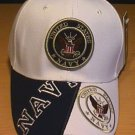 NAVY DOUBLE LOGO CAP W/ 2-TONE BILL #1