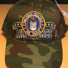 AIR FORCE WOODLAND CAMO W/BANNER LOGO CAP