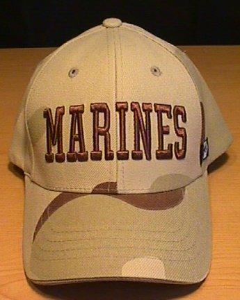 MARINE CORPS TEXT CAP - DESERT CAMO