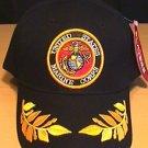 MARINE CIRLCLE LOGO CAP W/CAESAR - BLACK