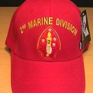 MARINE 2ND DIVISION CAP - RED