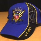 NAVY WEDGE CAP - ROYAL