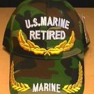 MARINE RETIRED CAP W/SCRAMBLED EGGS - WOODLAND