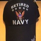 NAVY RETIRED CAP W/5STARS - BLACK