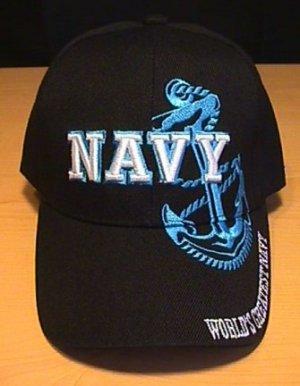 NAVY BLUE ANCHOR SHADOW CAP