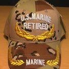 MARINE RETIRED CAP W/SCRAMBLED EGGS - DESERT