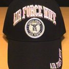 AIR FORCE WIFE CAP WITH PINK LETTERS - BLACK
