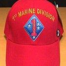 MARINE 1ST DIVISION CAP - RED