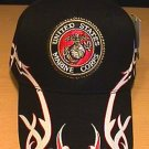 MARINES CIRCLE LOGO CAP W/BIKER ACCENTS