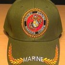 MARINE CIRCLE LOGO CAP W/BRAID - GREEN