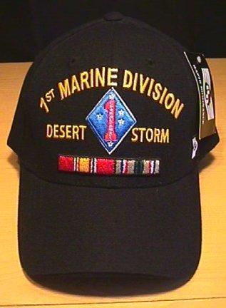 MARINE 1ST DIVISION IN DESERT STORM CAP