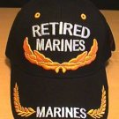 MARINE RETIRED CAP W/SCRAMBLED EGGS - BLACK