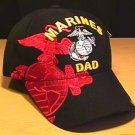 MARINE DAD RED SHADOW CAP - BLACK