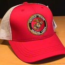 MARINE CIRCLE LOGO SUMMER MESHBACK CAP - RED