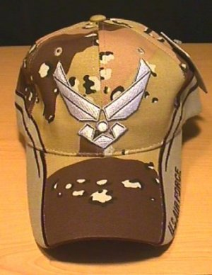 AIR FORCE WINGS LOGO W/DESERT CAMO ACCENTS