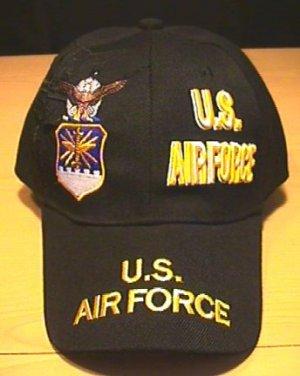 AIR FORCE SPLIT CROWN LOGO - BLACK